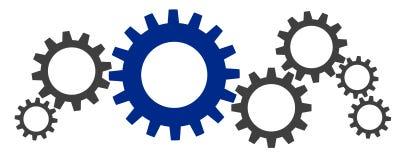 Illustration of a few gears royalty free illustration
