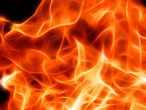 Illustration of a fiery flame in neon light. Close-up Royalty Free Stock Photography