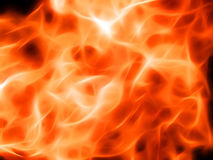 Illustration of a fiery flame in neon light. Close-up Stock Image