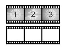 Film strip countdown. Illustration of film strip countdown. Vector available Stock Photos
