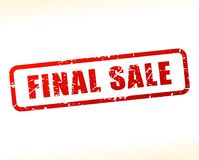 Final sale text buffered. Illustration of final sale text buffered on white background Stock Image
