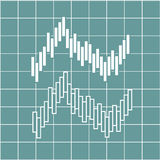 Illustration of financial graph chart. Vector illustration of financial graph chart Royalty Free Stock Images