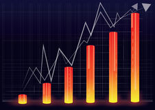 Illustration of financial graph chart Stock Photos