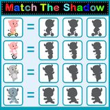 Find the correct shadow. Illustration of Find the correct shadow Royalty Free Stock Images