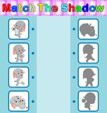 Find the correct shadow of the elephant. Illustration of Find the correct shadow of the elephant Stock Images