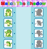 Find the correct shadow of the frog. Illustration of Find the correct shadow of the frog Stock Image