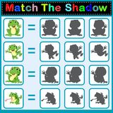 Find the correct shadow of the frog. Illustration of Find the correct shadow of the frog Stock Images