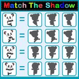 Find the correct shadow of the panda. Illustration of Find the correct shadow of the panda Stock Images