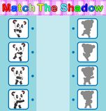 Find the correct shadow of the panda. Illustration of Find the correct shadow of the panda Stock Photos