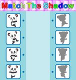 Find the correct shadow of the panda. Illustration of Find the correct shadow of the panda Stock Photography