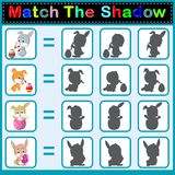 Find the correct shadow of the rabbit. Illustration of Find the correct shadow of the rabbit Stock Photo