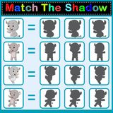 Find the correct shadow of the rhino. Illustration of Find the correct shadow of the rhino Stock Photos