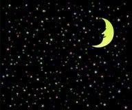Illustration fine d'un ciel nocturne images stock