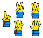 Illustration of finger Stock Image