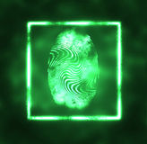 Illustration of the fingerprint Stock Photography