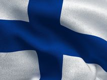Finland flag on a fabric basis. Illustration of a Finland flag on a fabric basis Royalty Free Stock Photo