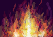 Illustration of a fire Royalty Free Stock Photography