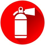 Fire extinguisher red circle icon. Illustration of fire extinguisher red circle icon Stock Photo