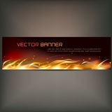 Illustration of fire flame banner on gray background. Vector illustration of fire flame banner on gray background Stock Image