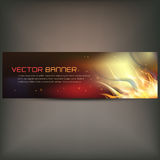 Illustration of fire flame banner on gray background. Vector illustration of fire flame banner on gray background Royalty Free Stock Photos