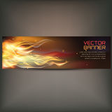 Illustration of fire flame banner on gray background. Vector illustration of fire flame banner on gray background Royalty Free Stock Photography