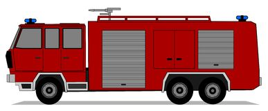 Fire truck. A illustration of fire truck Royalty Free Stock Photo