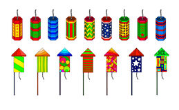 Illustration of firecrackers Royalty Free Stock Photos