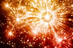 Illustration of fireworks Stock Images