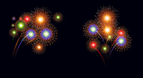 Illustration of Fireworks. Beauty Illustration of Fireworks for you design Royalty Free Stock Image