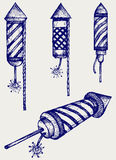 Illustration fireworks Royalty Free Stock Image