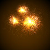 Illustration of Fireworks. Easy editable Royalty Free Stock Photography