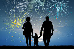 Illustration of fireworks explosion. Cute illustration of fireworks explosion Royalty Free Stock Photos