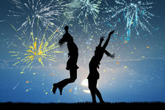 Illustration of fireworks explosion. Cute illustration of fireworks explosion stock illustration