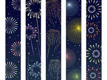 Fireworks obi set1. It is an illustration of a Fireworks obi set royalty free illustration