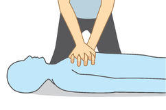 Illustration about First aid for Heart attack people. Royalty Free Stock Photo