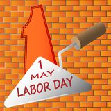 Illustration / First May / Vector. Brickwork Stock Images
