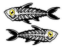 Illustration of fish bones mascot cartoon character in. Illustration of mascot cartoon character in Royalty Free Stock Photography