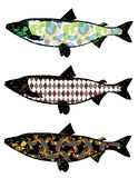 Illustration of fish collection. Colorful  fish Illustration set Royalty Free Stock Images