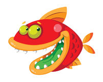 Fish crazy. Illustration of a fish crazy Royalty Free Stock Photography