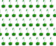 Illustration of fish grass pattern. A plant with a bag which looks like a fish. the bag could be used to toast fish. put fish into the bag from the eye hole and Stock Photo