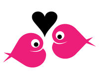Fish. Illustration of fish heart logo on white background Stock Photos