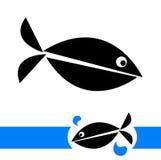 Fish logo. Illustration of fish logo on white background Royalty Free Stock Photos