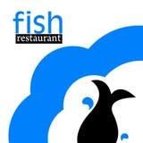 Fish logo. Illustration of fish restaurant logo Royalty Free Stock Images