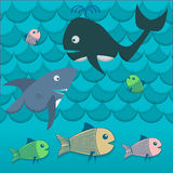 Illustration of fish sea vector Royalty Free Stock Image
