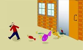 Illustration of fish store Stock Photo