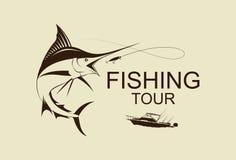 Illustration fishing boat, vector Stock Photos