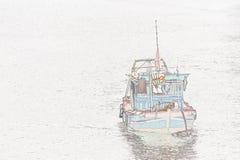 Illustration: fiskebåt royaltyfri fotografi