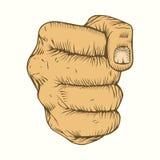 Illustration of fist Stock Image