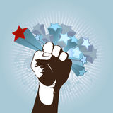 Illustration with fist. Vector Royalty Free Stock Images