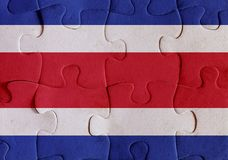 Costa Rica flag puzzle Royalty Free Stock Photos